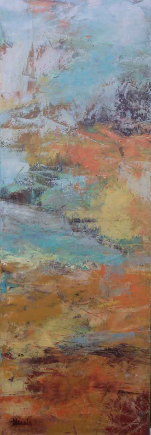 "Rising Up  Oil & Wax,  10"" x 30"",  2015  Gifted"