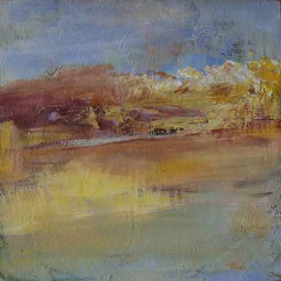 "By the Water  Acrylic,  16"" x 16"",  2006  Sold"