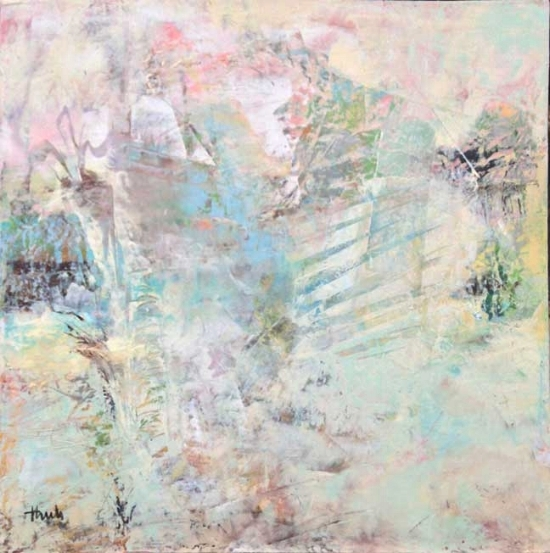 "Shining Through  Oil & Wax, 20"" x 20"", 2015  Sold ($350)"