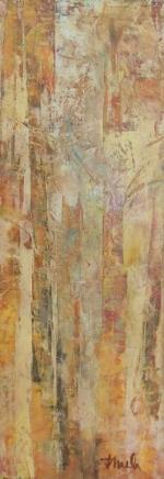 "Sunshine on Trees  Oil & Wax, 5"" x 12"", 2015"