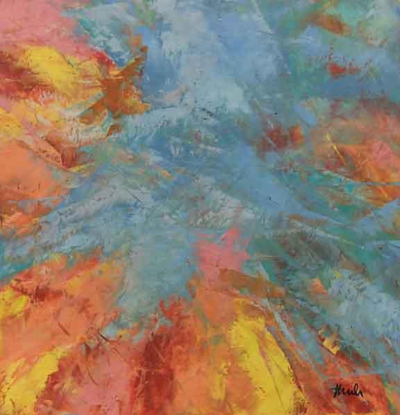 "Blue Sky  Oil & Wax,  12"" x 12"",  2017  Sold"