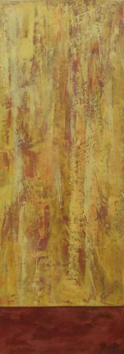 "Warmth of Sun  Oil & Wax, 6"" x 18"", 2017"