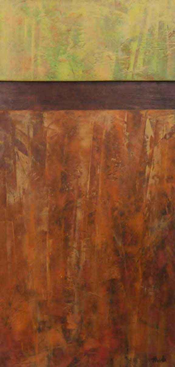 "Autumn Colors  Oil & Wax,  12"" x 26"",  2017"