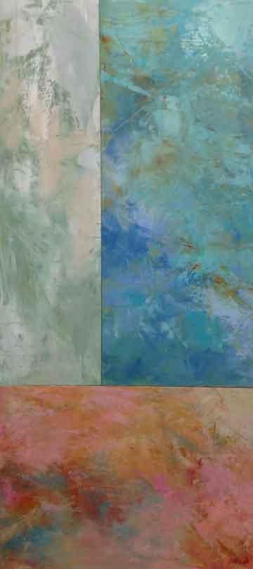 """Skies  Oil & Wax,  16"""" x 36"""",  2018  Sold"""