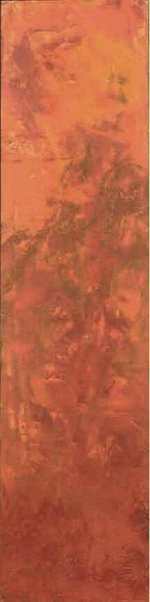 """Full Bloom  Oil & Wax, 6"""" x 40""""  2011  Sold"""