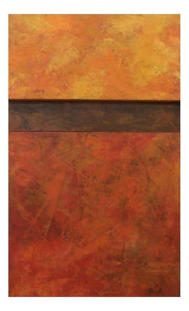 "Sunshine in Autumn  Oil & Wax,  10"" x 17"""