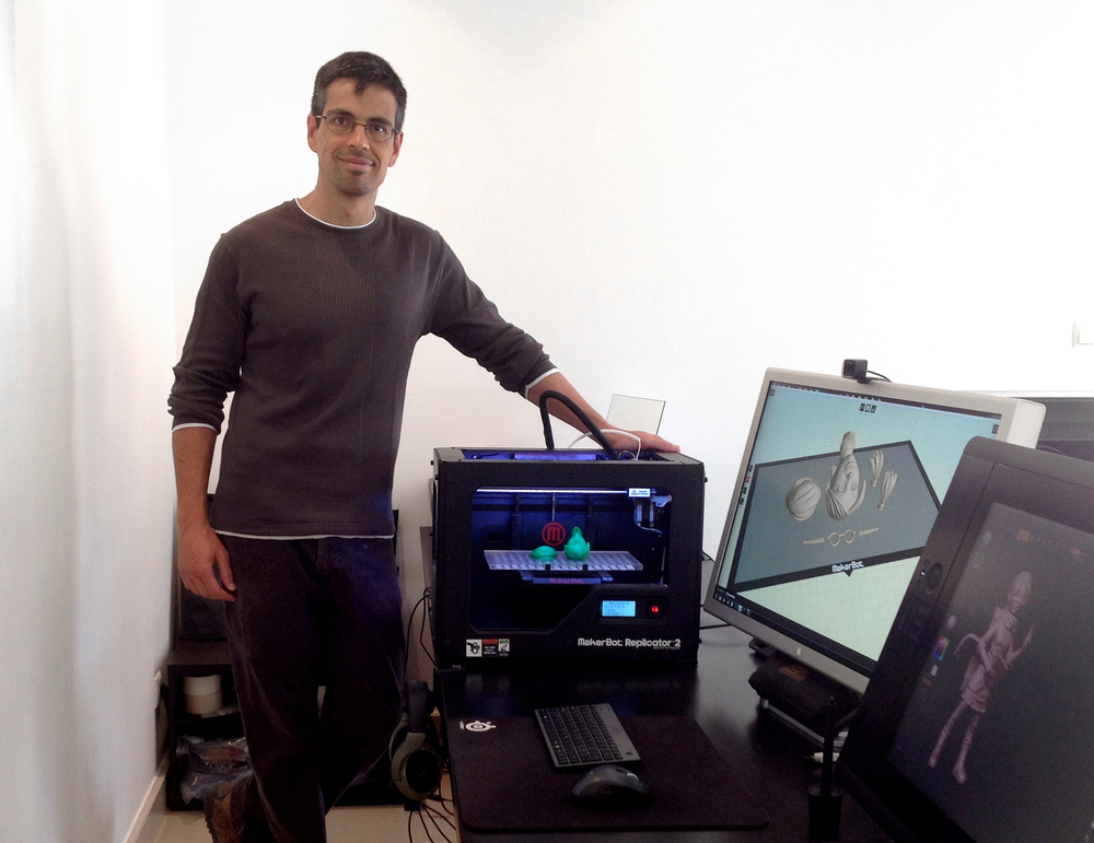 Jose Alves da Silva and his MakerBot Replicator 2