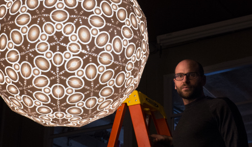 Robert Debbane and his Galactica Chandelier