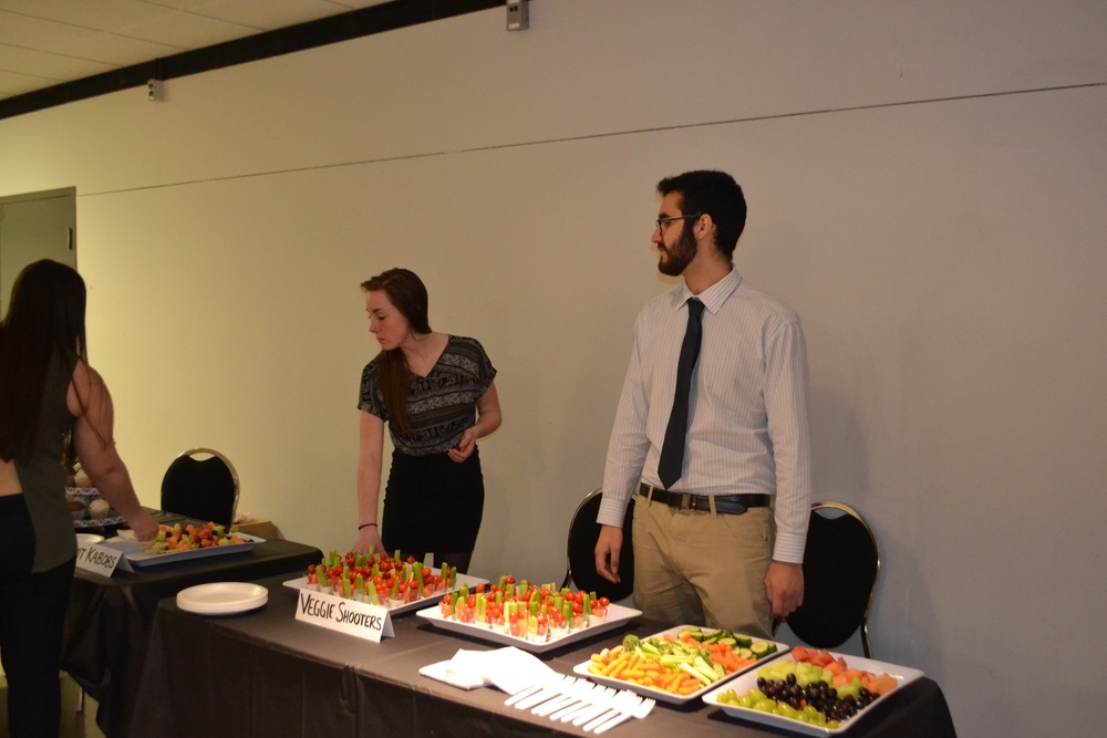 Our lovely volunteers manning the snack table