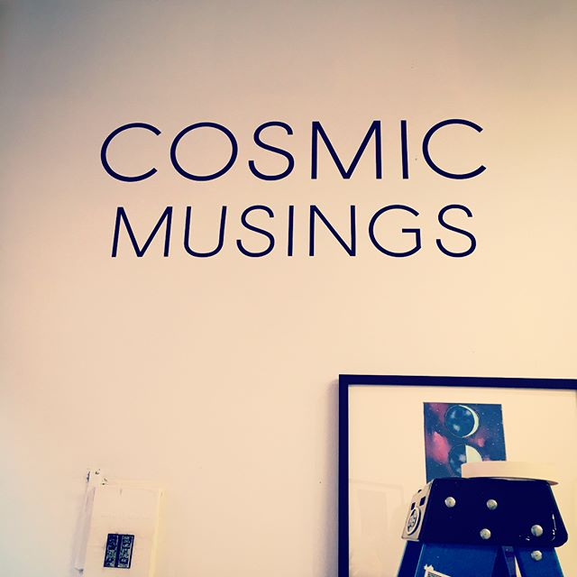 Counting down. So proud of you @ticeisnice ❤️ Congratulations! #openingnight #galleryshow #cosmicmusings #moonpainting