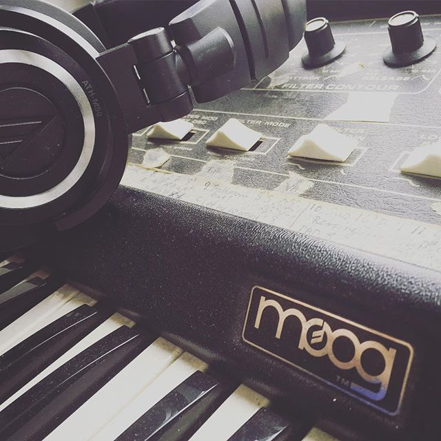 Repost from @real_artfunkle (Moonbabies' Ola): This is our beloved little MicroMoog with what has been tape marks for setlist/tweeks for past Moonbabies tours. This fat little 70s monosynth has been our go-to for analog electronic bass live and in the studio since 2003, and is known to be a favorite of Herbie Hancock as well.  #synth #moog #herbiehancock #monosynth #artfunkle #electronica #electronic #moonbabies #nowspinning #dreampop #indie #classics #analog #onmyturntable #music #Whats_playing #micromoog