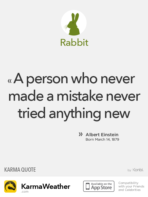 Chinese Zodiac Quotes: Rabbit #Einstein
