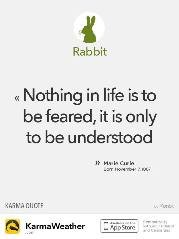 Chinese Zodiac Quotes: Rabbit #Curie