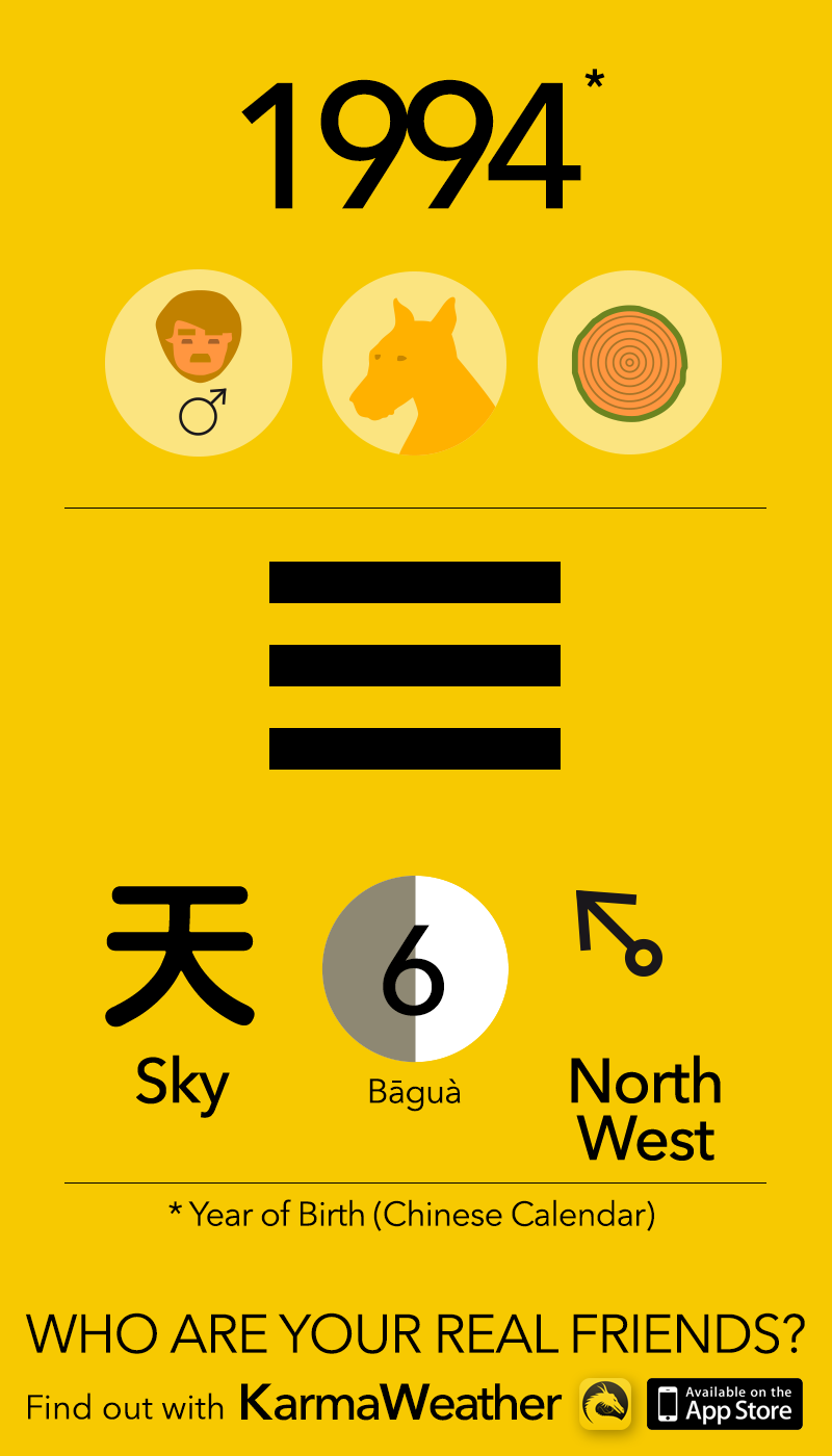 Feng Shui BaGua basics for men born in 1994, by KarmaWeather #Dog
