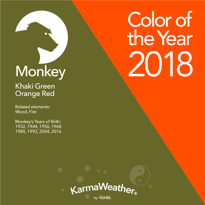 lucky color for the year of the monkey in 2018 color 2018. Black Bedroom Furniture Sets. Home Design Ideas
