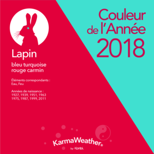Le Lapin (ou Chat) Lapin-2018-couleur-annee-feng-shui-bleu-turquoise-rouge-carmin-karmaweather