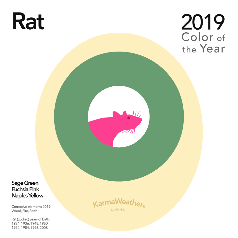 Image result for color of the year RAT 2019