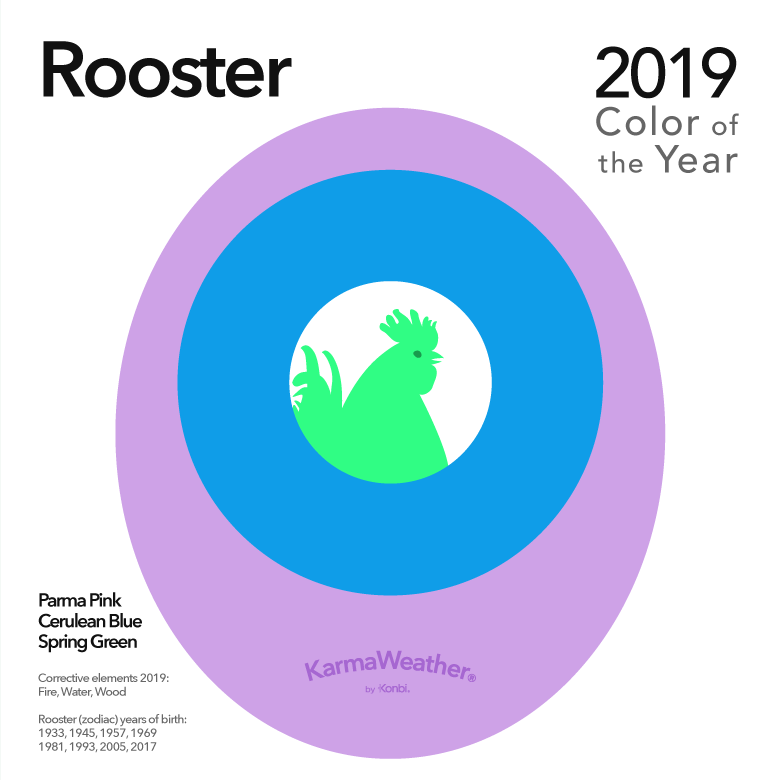 Image result for color of the year 2019 rooster karmaweather