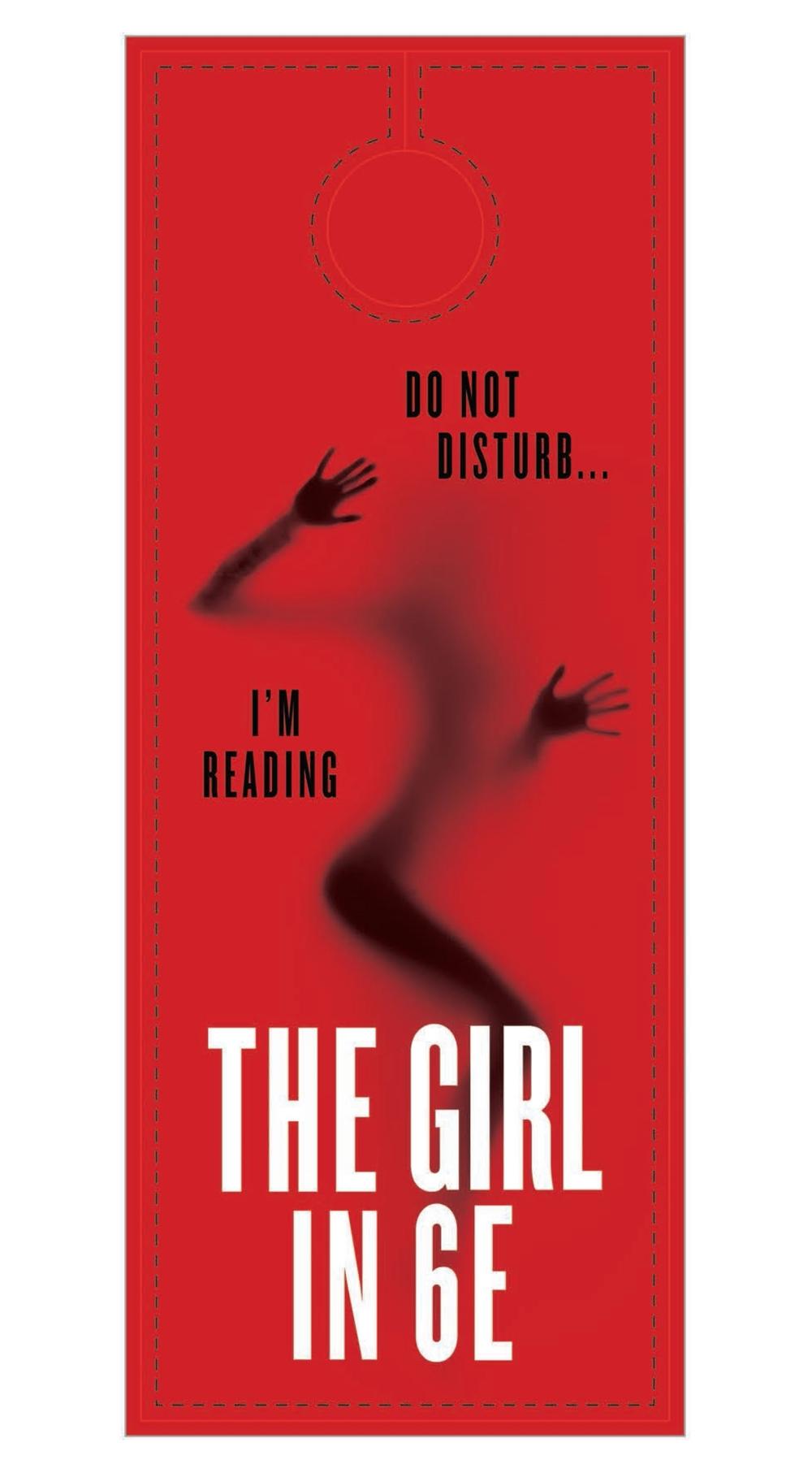 The Girl in 6E door hanger (1/2)