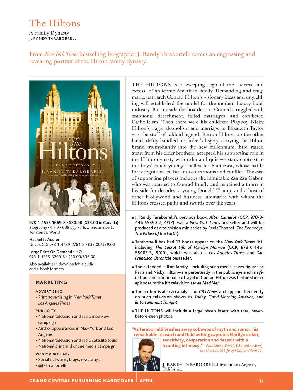 Hiltons catalog page