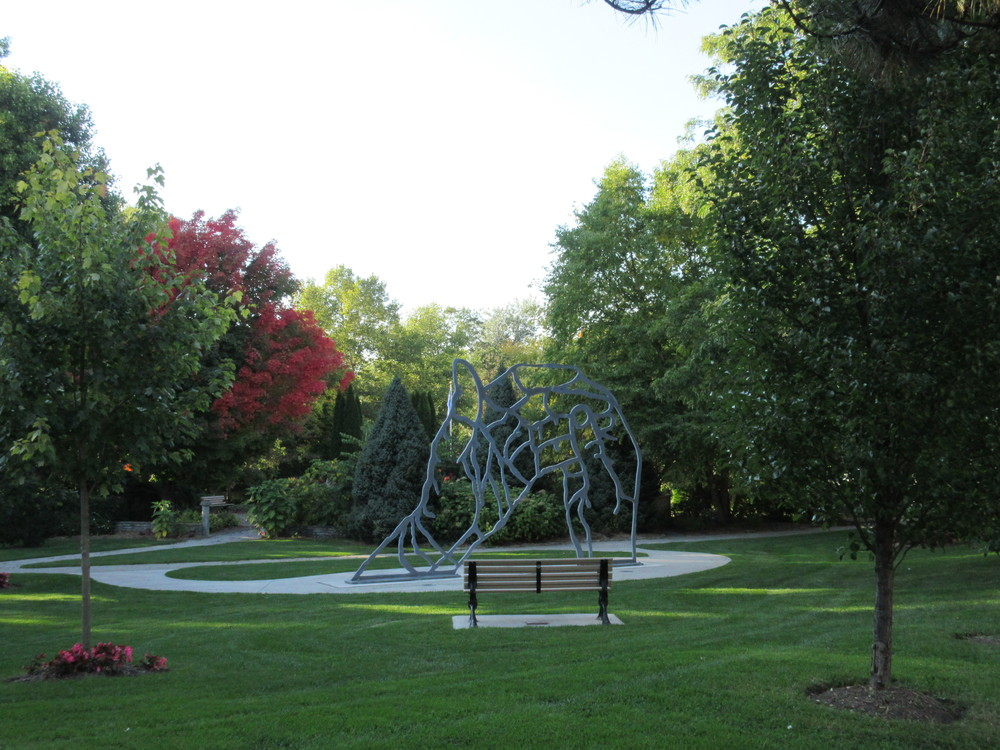 This sculpture is one of Clint's favourite things about peace park.