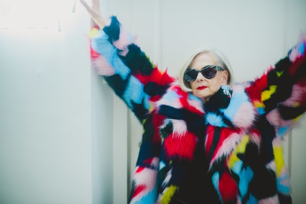Photo by @maizhouyuan Wearing Faux Fur Star Camo Coat by @angelchenstudio