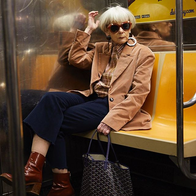 2019. Traveling light. Photo: @michael_paniccia #travel #nyc #color #style #ageisnotavariable  #novariable #warhol #currentmood #currently