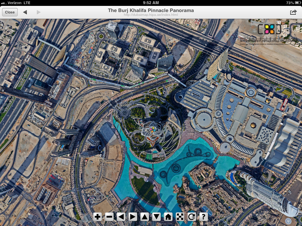 "130205, h/t ""@radleybalko: Mind-blowing hi-res panorama from the top of the Burj Khalifa.  http://t.co/F7dtGsWH."""