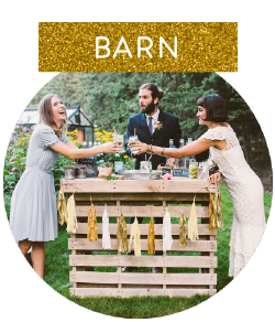 We make handcrafted pieces both large and small. They are available for rent from our McPherson Barn, located on our grounds.  We can also work with you to design custom orders. All pieces are lovingly crafted with care by Denise and Jerry.