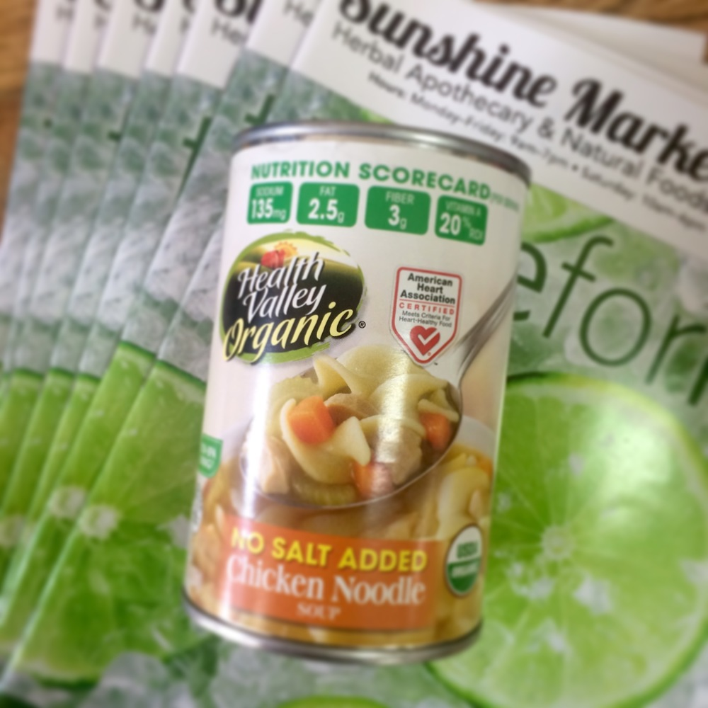 Health Valley Organic Soups are available at Sunshine Market in Salida, Colorado