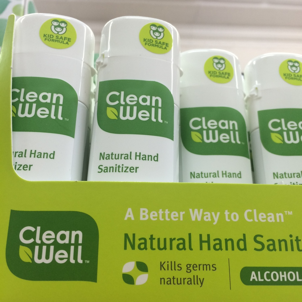 Clean Well Hand Sanitizer at Sunshine Market in Salida, Colorado.