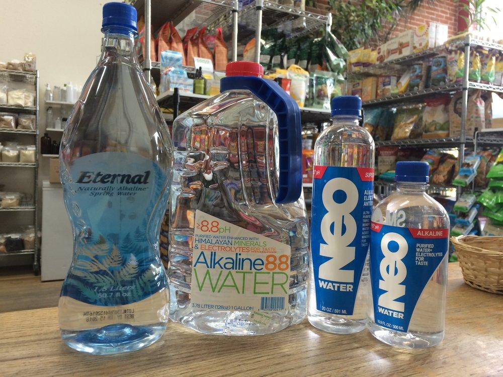 Alkaline water at Sunshine market in Salida, Colorado