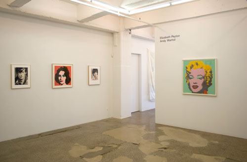 Installation View: Elizabeth Peyton and Andy Warhol
