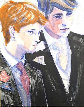 Elizabeth Peyton, Prince William and Prince Harry 2000, color lithograph 24 x 19 inches Edition of 350