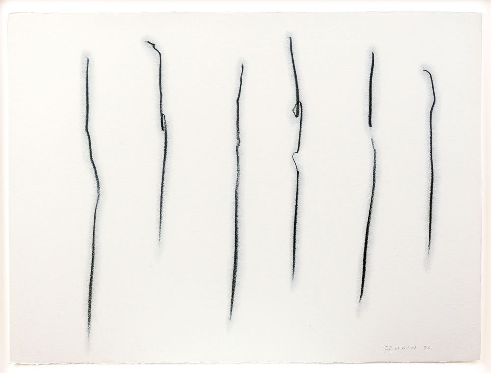 Lee Ufan Untitled (#76082) (from Line Series) 1976 graphite on paper 22 x 30 inches