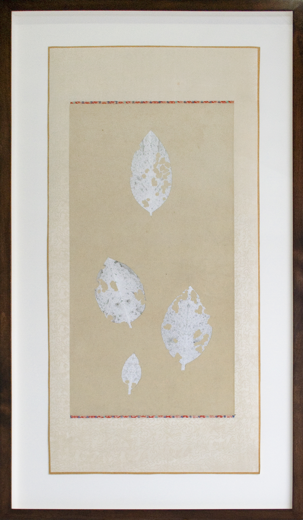 Bruce Conner (Anonymous) LEAVINGS 2001 ink and paper on cloth and paper scroll 36 5/16 x 17 1/2 inches