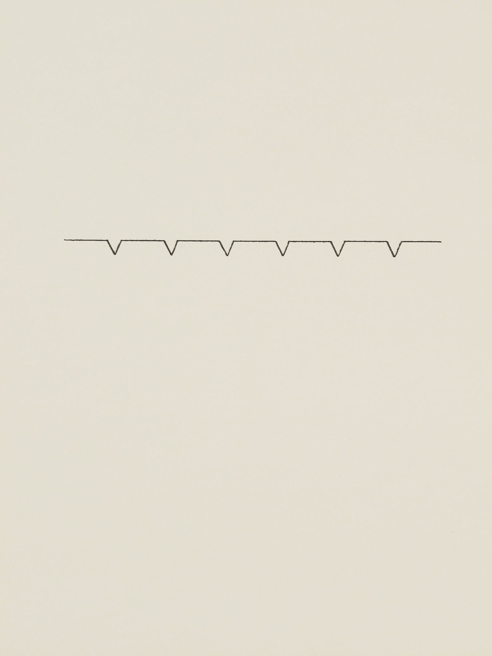 Richard Tuttle Untitled (Whitney Series #39) c. 1971 ink on paper 12 x 9 inches