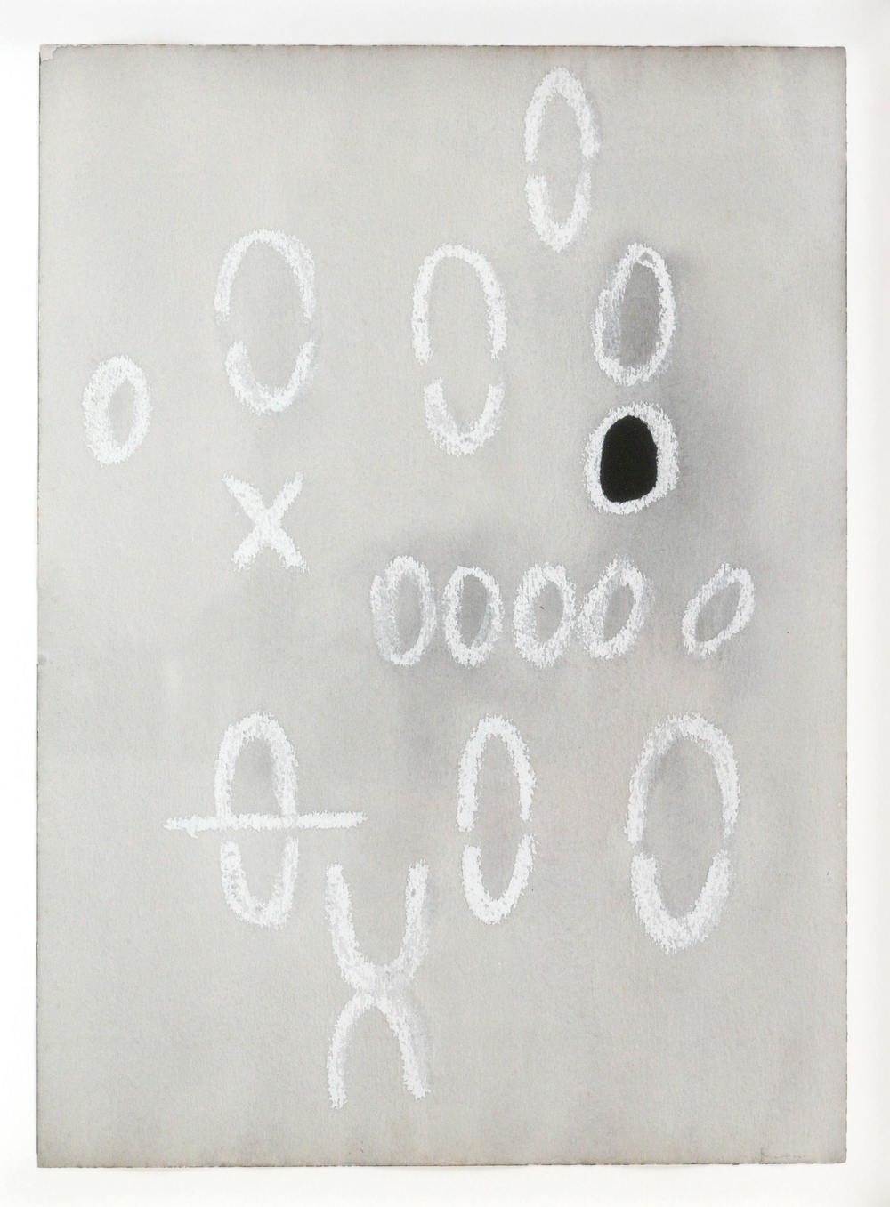 Mira Schendel Untitled 1970 mixed media on paper 14 1/8 x 10 1/4 inches