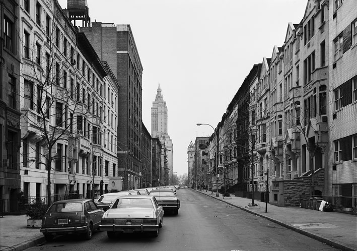 Thomas Struth  West 74th Street, New York/Upper West  1978, printed 2002 gelatin silver print 26 x 33 1/8 inches edition of 10
