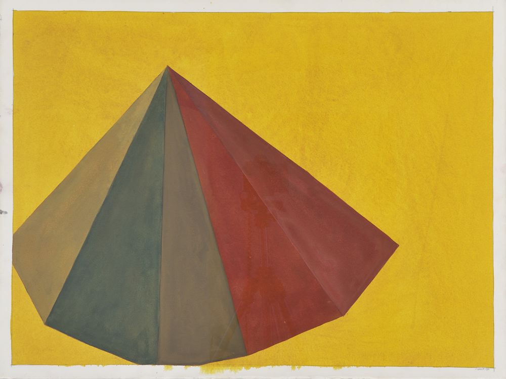Sol LeWitt  Pyramid  1986 gouache on paper 22 x 30 inches