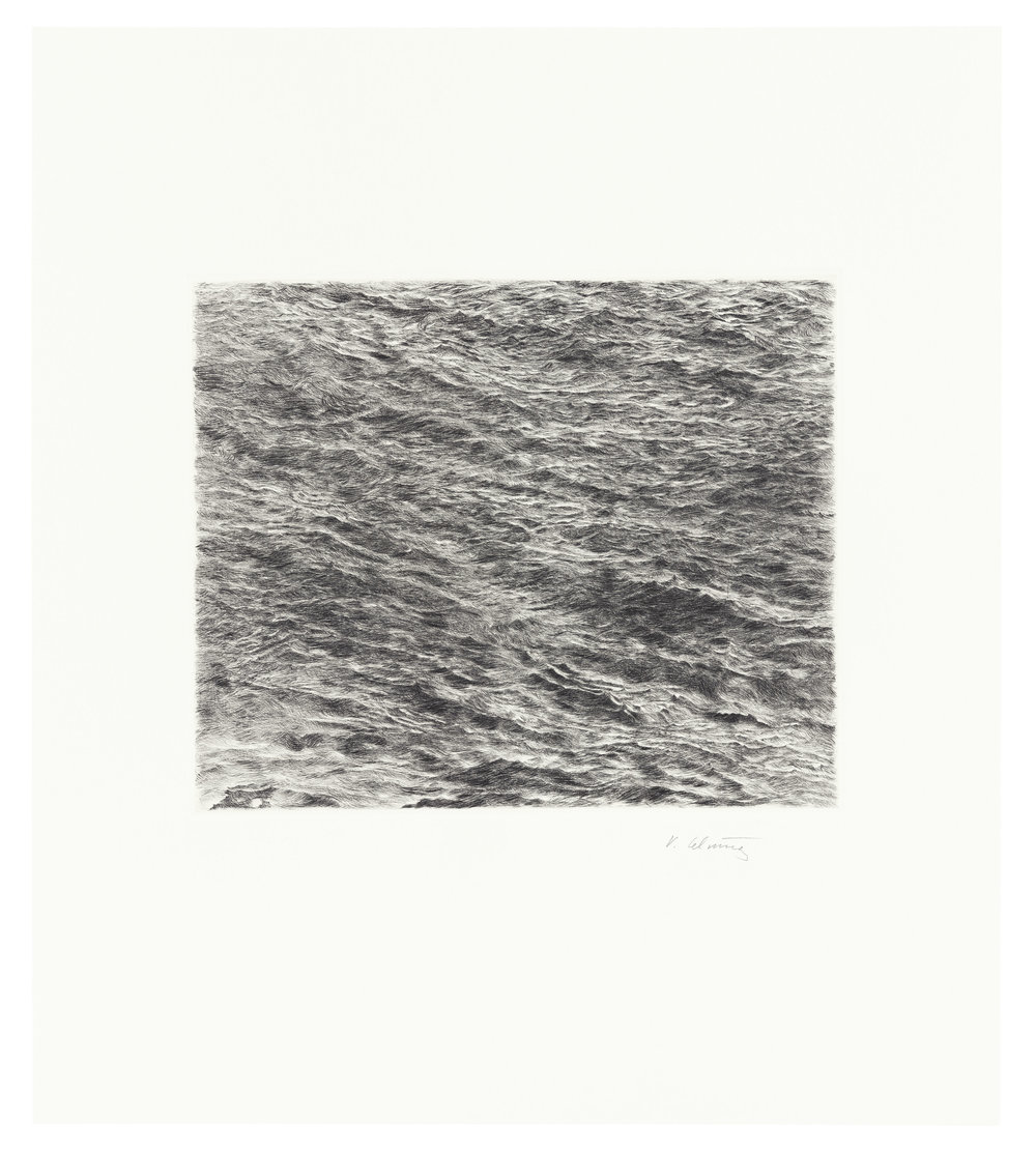 Untitled (Ocean Drypoint)