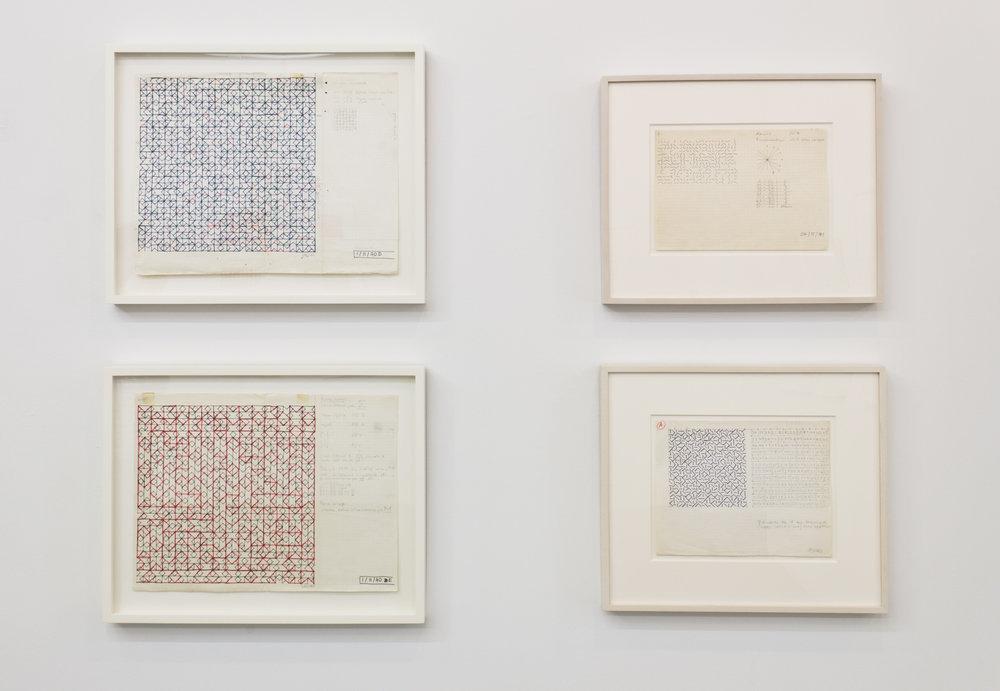 Installation View: Vera Molnar Drawings: 1949-1986