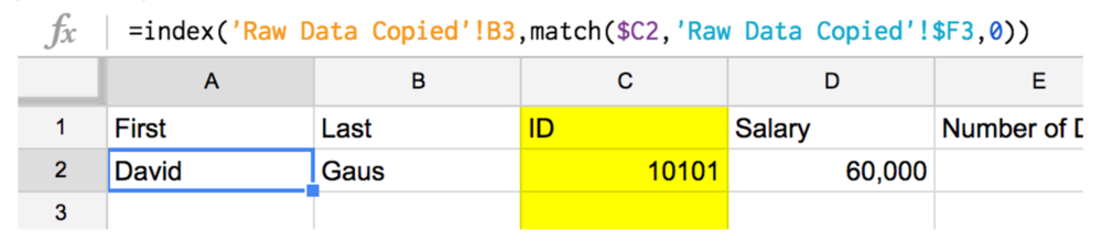 per diem match index formula