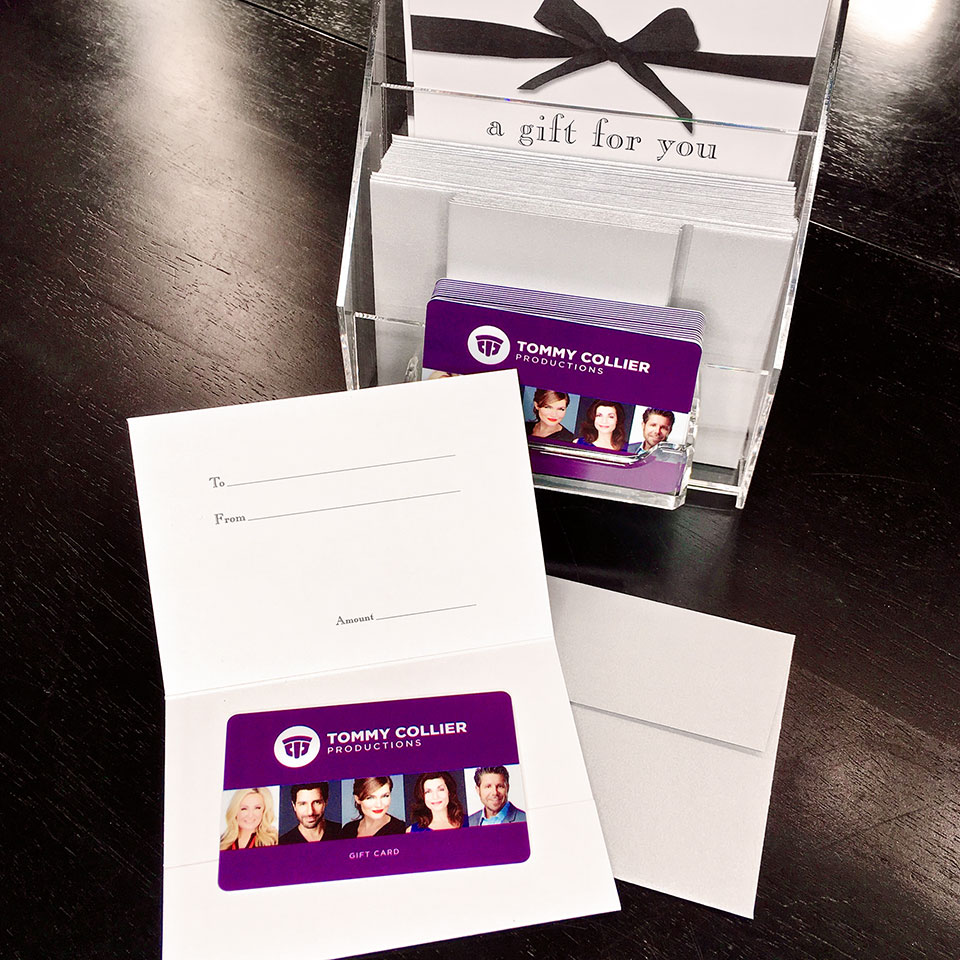 Our physical gift cards include complimentary greeting card style gift card holders and metallic silver envelopes for an elegant gift presentation that will be sure to impress!