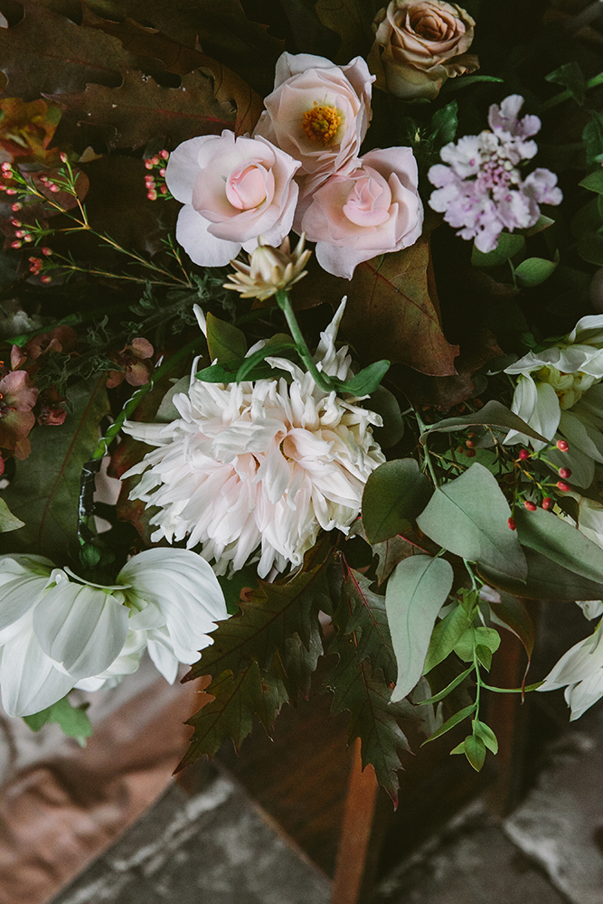 unique homegrown wedding flowers and garden roses