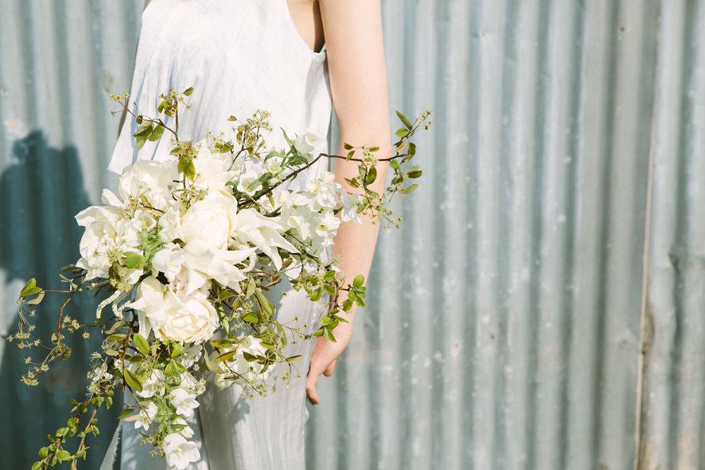 unique spring bridal bouquet