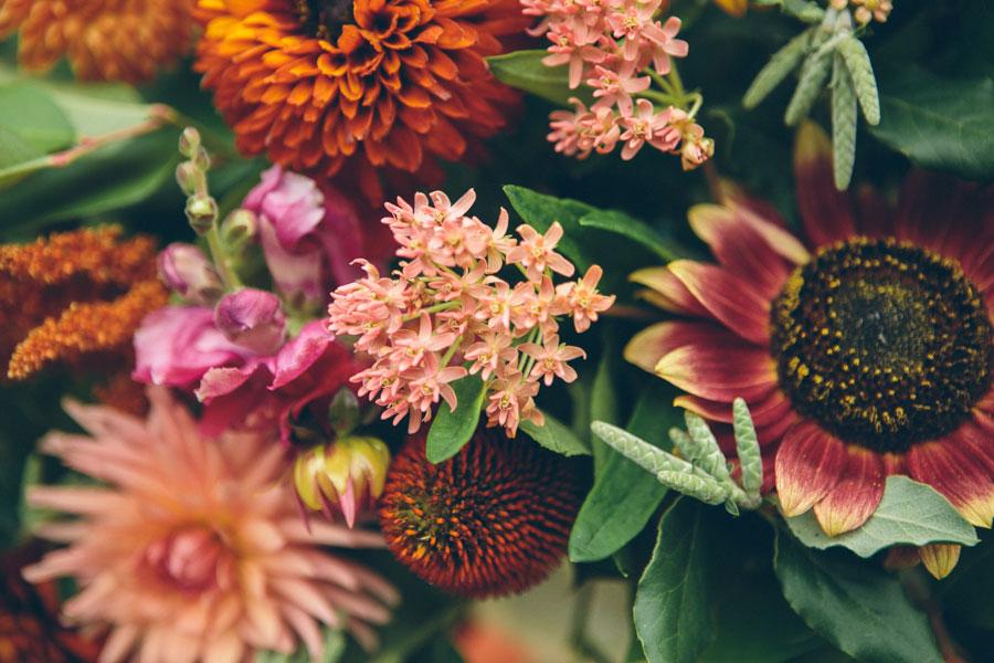 bright bold summer wedding flowers