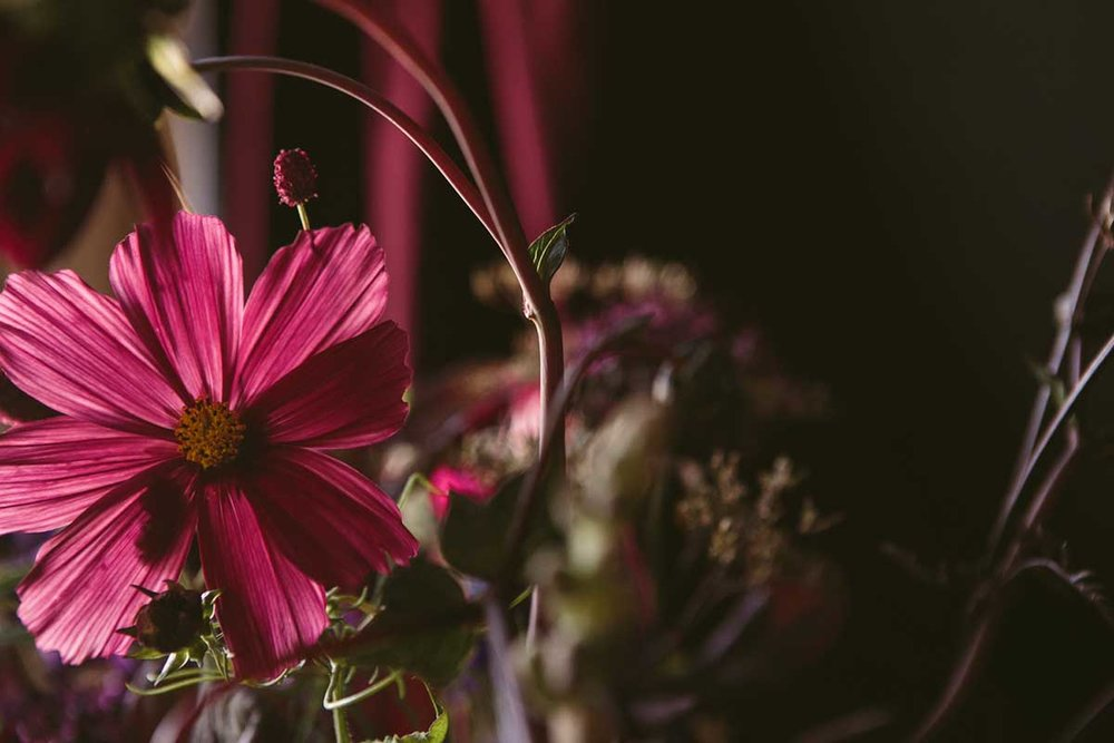 summer homegrown wedding flowers
