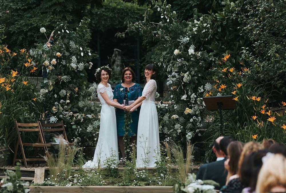 Summer wildflower wedding in London