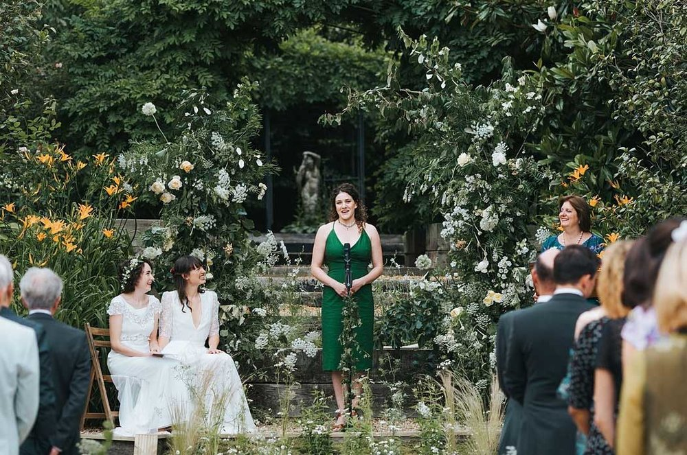 Summer Wedding in London with wildflowers